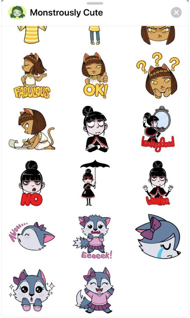 Monstrously Cute stickers on Android